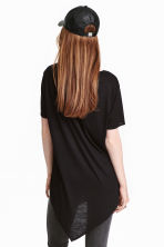 Asymmetric T-shirt - Black - Ladies | H&M CN 4