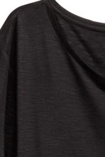 Asymmetric T-shirt - Black - Ladies | H&M CN 5