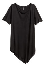 Asymmetric T-shirt - Black - Ladies | H&M CN 2