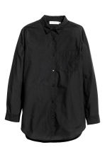 Cotton shirt - Black - Ladies | H&M CN 2
