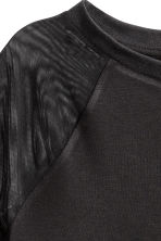 Jersey top - Black/Mesh - Ladies | H&M CN 3