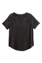 Jersey top - Black/Mesh - Ladies | H&M CN 2
