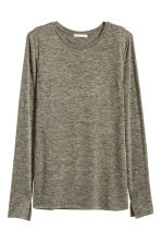 Marled top - Dark green - Ladies | H&M CN 2