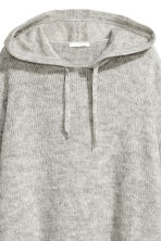 Knitted hooded jumper - Light grey marl - Ladies | H&M GB 3