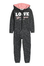 Printed jumpsuit - Black marl - Kids | H&M CN 2