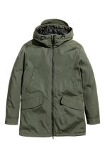 Padded parka - Dark khaki green - Men | H&M CN 2