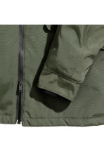 Padded parka - Dark khaki green - Men | H&M CN 3
