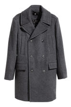 Wool-blend coat - Dark grey marl - Men | H&M CN 2