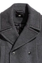 Wool-blend coat - Dark grey marl - Men | H&M CN 3