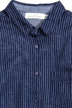 Camicia in cotone - Blu scuro/righe - DONNA | H&M IT 3