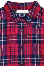 Shirt - Red/Checked - Ladies | H&M CN 3