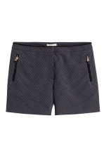 Jacquard-weave shorts - Dark blue/Patterned -  | H&M CN 2