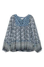 Patterned blouse - Dark blue - Ladies | H&M CN 2