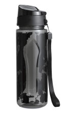 Water bottle with a cap - Black/Floral - Ladies | H&M CN 1