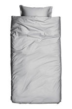 Washed satin duvet cover set - Light grey - Home All | H&M CN 2