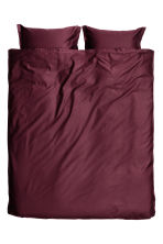 Washed satin duvet cover set - Burgundy - Home All | H&M CN 1