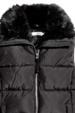 Padded gilet with faux fur - Black - Ladies | H&M CN 3