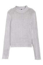 Rib-knit jumper - Grey marl - Ladies | H&M CN 2