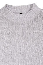 Rib-knit jumper - Grey marl - Ladies | H&M CN 3