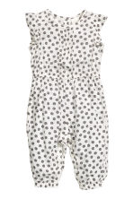 Patterned romper suit - Natural white - Kids | H&M CN 1