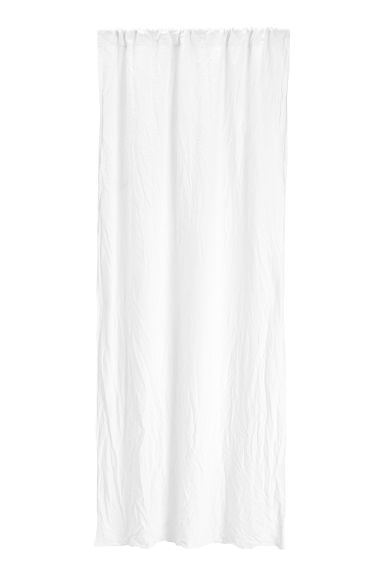 Washed linen curtain length - White - Home All | H&M CN 1