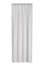 Washed linen curtain length - Light grey - Home All | H&M CN 1