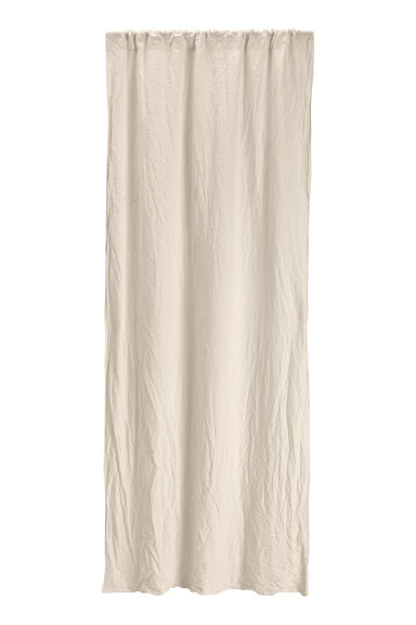 Washed linen curtain length - Linen beige - Home All | H&M CN