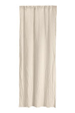 Washed linen curtain length - Linen beige - Home All | H&M CN 1