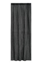 Washed linen curtain length - Anthracite grey - Home All | H&M CN 1