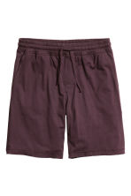 Jersey pyjama shorts - Dark plum - Men | H&M CN 1