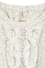 Cable-knit jumper - Light grey - Ladies | H&M CN 3