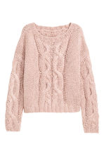 Cable-knit jumper - Powder pink - Ladies | H&M CA 2