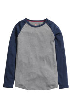 Long-sleeved T-shirt - Dark grey - Kids | H&M CN 2