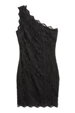 One-shoulder lace dress - Black - Ladies | H&M CN 2