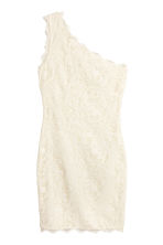 One-shoulder lace dress - Natural white - Ladies | H&M CN 2