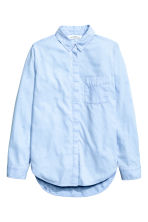 Flannel shirt - Light blue - Ladies | H&M CN 2