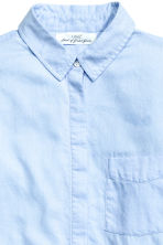 Flannel shirt - Light blue - Ladies | H&M CN 3