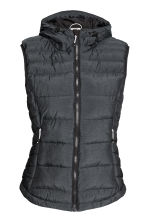 Padded gilet with a hood - Black marl - Ladies | H&M CN 2