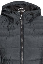Padded gilet with a hood - Black marl - Ladies | H&M CN 3
