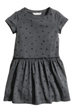 Jersey dress - Dark grey/Hearts -  | H&M CN 2