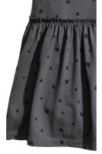 Jersey dress - Dark grey/Hearts -  | H&M CN 3