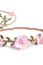 Hairband with flowers - Light pink - Ladies | H&M 2