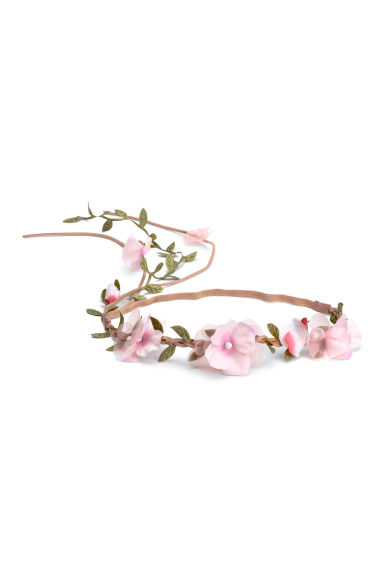 Hairband with flowers - Light pink - Ladies | H&M 1