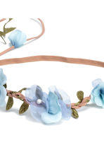 Hairband with flowers - Light blue - Ladies | H&M CN 2