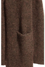 Mohair-blend cardigan - Dark brown marl -  | H&M CN 3