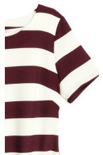H&M+ Dress with zips - Burgundy/Striped - Ladies | H&M CN 3