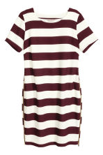H&M+ Dress with zips - Burgundy/Striped - Ladies | H&M CN 2