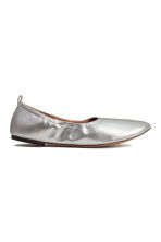 Soft ballet pumps - Silver - Ladies | H&M CN 1