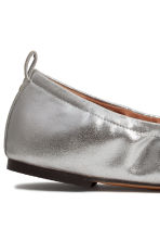Soft ballet pumps - Silver - Ladies | H&M CN 4