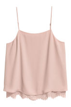 H&M+ Strappy top with lace - Powder pink - Ladies | H&M CN 2